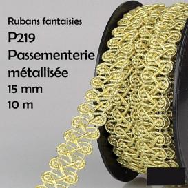 bobine 10m galon boucle brillant 15mm