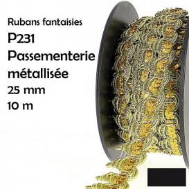 bobine 10m galon bordure paillettes brillant 25mm