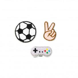 3 mini-écussons adhésif et thermocollant jeux vidéo n°2