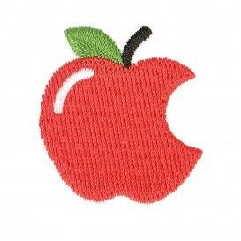 écusson pomme croquée thermocollant