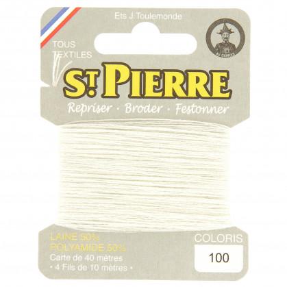 fils à repriser Saint Pierre blanc n°100