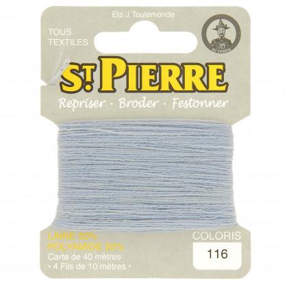 fils à repriser Saint Pierre bleu layette n°116