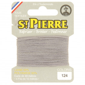 fils à repriser Saint Pierre gris perle n°124