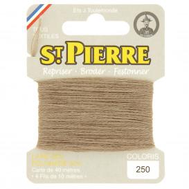 fils à repriser Saint Pierre beige n°250
