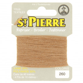 fils à repriser Saint Pierre brun clair n°260