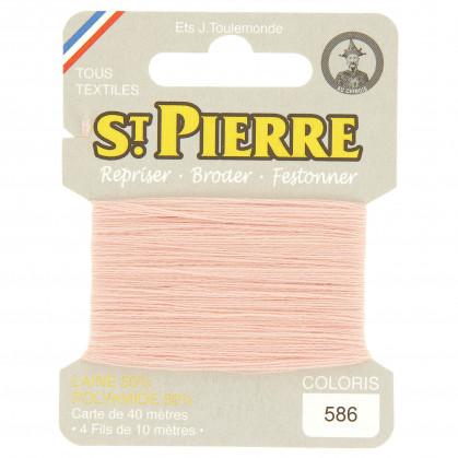 fils à repriser Saint Pierre rose n°586