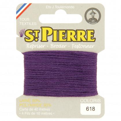 fils à repriser Saint Pierre violet n°618