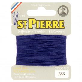 fils à repriser Saint Pierre bleu roi foncé n°655