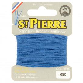 fils à repriser Saint Pierre bleu lavande n°690
