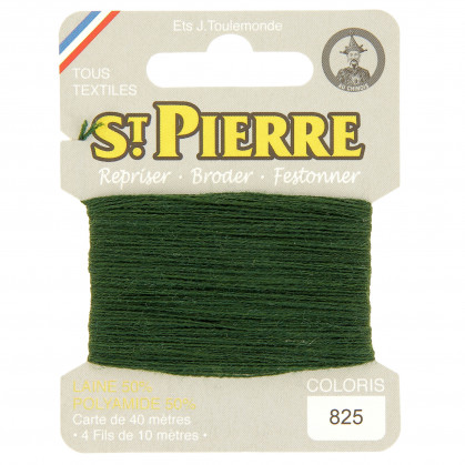 fils à repriser Saint Pierre vert herbe n°825