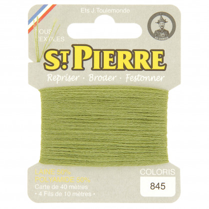 fils à repriser Saint Pierre vert olive n°845