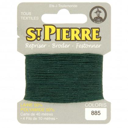 fils à repriser Saint Pierre vert lierre n°885