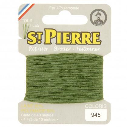 fils à repriser Saint Pierre vert olive foncé n°945