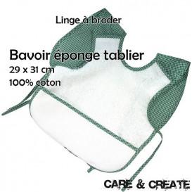 Bavoir éponge tablier à broder 29x31 cm