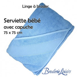 Serviette bébé avec capuche à broder