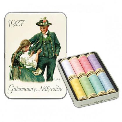 Coffret nostalgie 8 fils à coudre polyester Gütermann n°2