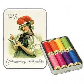 Coffret nostalgie 8 fils à coudre polyester Gütermann n°3