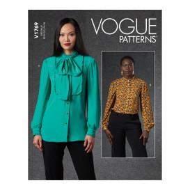 patron chemisier ample Vogue V1769