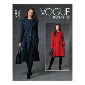 patron manteau ajusté Vogue V1752