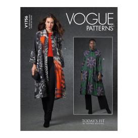 patron veste longue Vogue V1756
