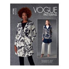patron veste longue doublée Vogue V1792