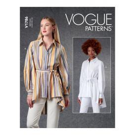 patron chemise et ceinture Vogue V1786