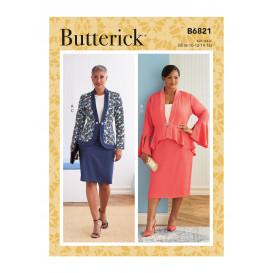 patron veste et jupe Butterick B6821