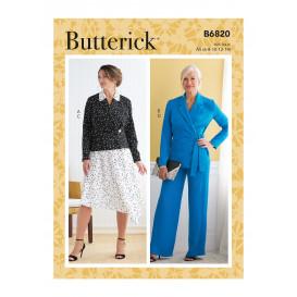 patron veste, jupe, pantalon Butterick B6820