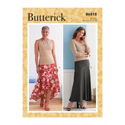 patron jupe Butterick B6818