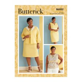 patron veste, robe et haut Butterick B6822