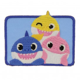 écusson baby shark rectangle thermocollant