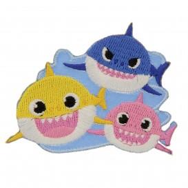 écusson baby shark thermocollant