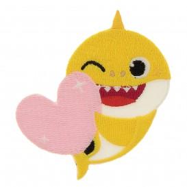 écusson baby shark jaune surf thermocollant