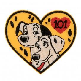 écusson disney 101 dalmatiens coeur thermocollant