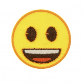 écusson emoji sourire thermocollant
