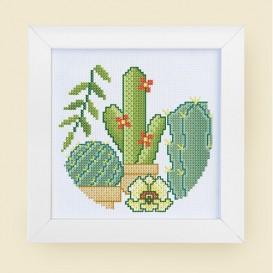 kit canevas cactus 15x15cm