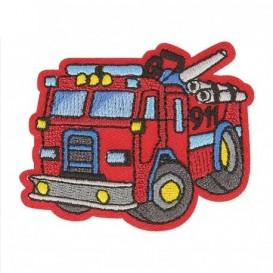 écusson camion de pompier 5cm x 4,3cm thermocollant