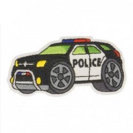 écusson voiture de police 6cm x 3cm thermocollant