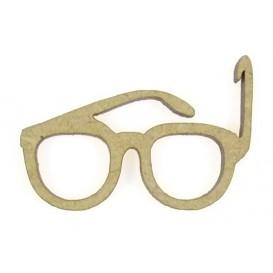 sujet en bois lunettes