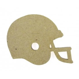 sujet en bois casque football americain