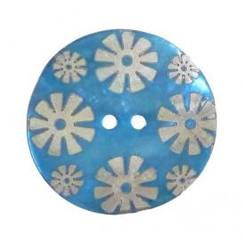 bouton nacre gravé laser fleur