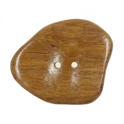 bouton bois irrégulier vague 50mm