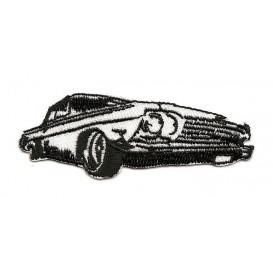 écusson voiture noir et blanc thermocollant