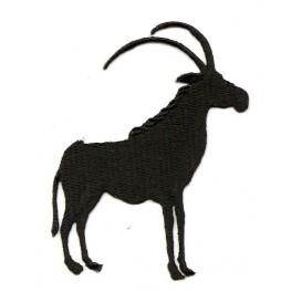 écusson oryx algazelle noir thermocollant