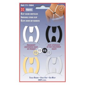 4 clips cache bretelles ovale