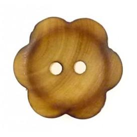 bouton fantaisie en bois fleur