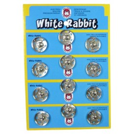 12 boutons pressions métal 21mm