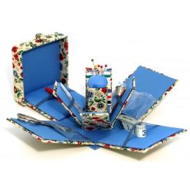 trousse de couture carrée dépliante fleurs