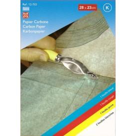 5 papiers carbone pour patron 28x23cm